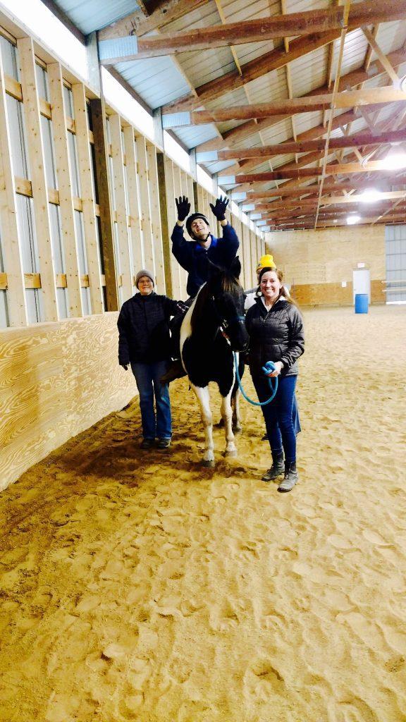 Mark Herber on Ellie Thank you Horse