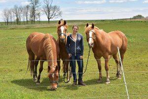Ashley Navis with Horses