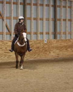 Lynn riding Mac